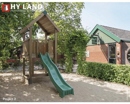 Spielturm Hyland Projekt 2 inkl. Rutsche Grün