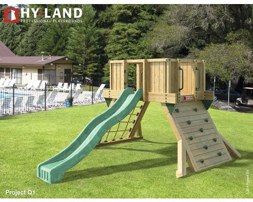 Spielturm Hyland Projekt Q1 inkl. Rutsche Grün