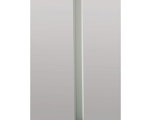 Metalleffektprofil Edelstahloptik 106 cm