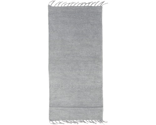 Fleckerl-Teppich Chenille grau 60x120 cm