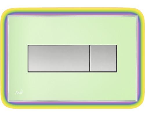 Betätigungsplatte Alca Plast Komfort mit Beleuchtung grün / rainbow