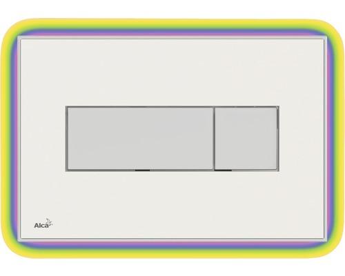 Betätigungsplatte Alca Plast Komfort mit Beleuchtung weiß / rainbow
