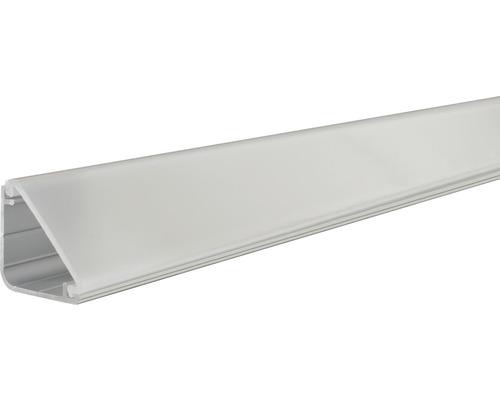 Paulmann Aluminium Profil Delta mit Diffusor alu/eloxiert 1,0 m
