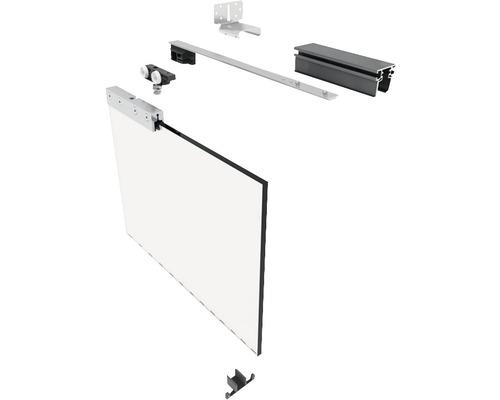 Pocket Kit Schiebetürsystem Knauf Klemmbacken für Glastürblatt 80 kg