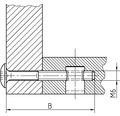 Flachrundschraube Innensechskant 6x25 mm, galv. verzinkt, 100 Stück