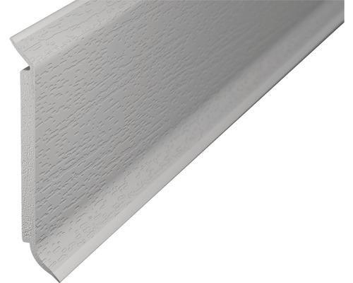 Kernsockelleiste PVC hellgrau 15x60x2500 mm