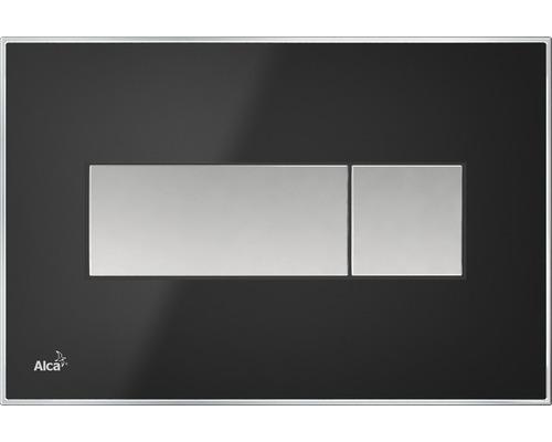 Betätigungsplatte Alca Plast Komfort M1374 schwarz/mattchrom
