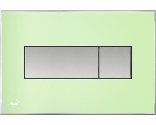Betätigungsplatte Alca Plast Komfort M1372 grün/mattchrom