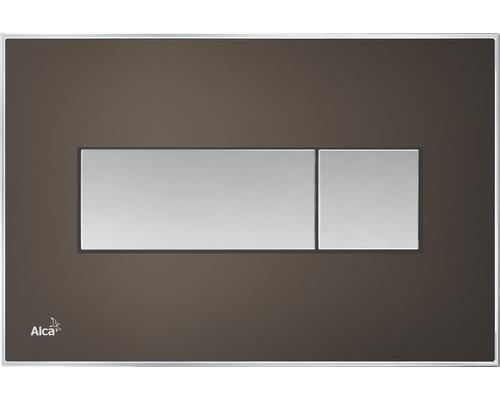 Betätigungsplatte Alca Plast Komfort mit rainbow Beleuchtung braun/chrom
