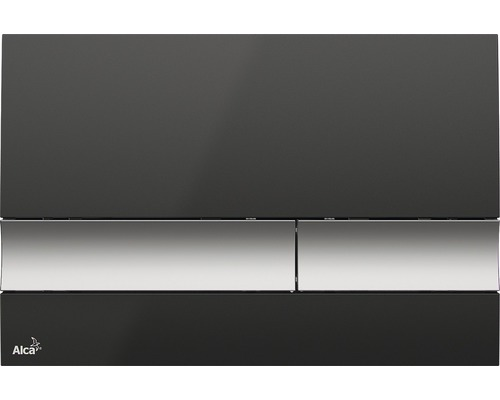 Betätigungsplatte Alca Plast Komfort M1728-2 schwarz/chrommatt