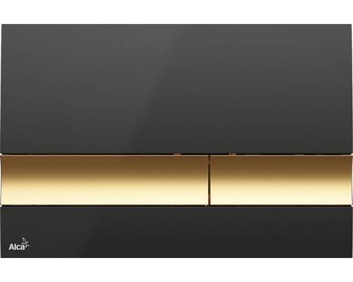 Betätigungsplatte Alca Plast Komfort M1728-2 schwarz/gold