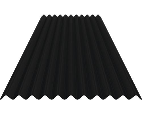 Bitumenwellplatte Sinus 76/30 schwarz 2000 x 835 x 2,2 mm