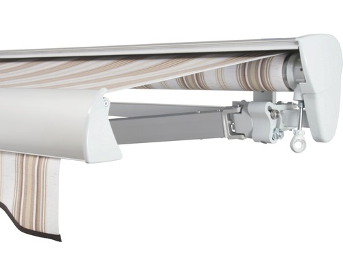 Halbkassettenmarkise 400x350 cm SOLUNA ohne Motor Dessin 6171