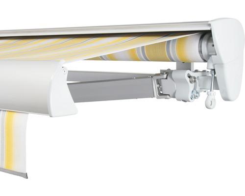 Halbkassettenmarkise 600x200 cm SOLUNA ohne Motor Dessin 7485