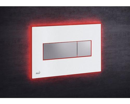 Betätigungsplatte Alca Plast Komfort mit roter Beleuchtung weiß/chrom