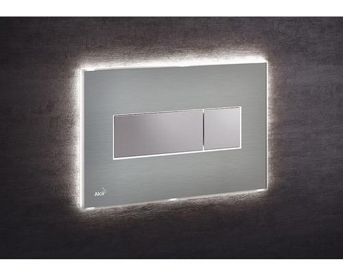 Betätigungsplatte Alca Plast Komfort mit weißer Beleuchtung edelstahl/chrom
