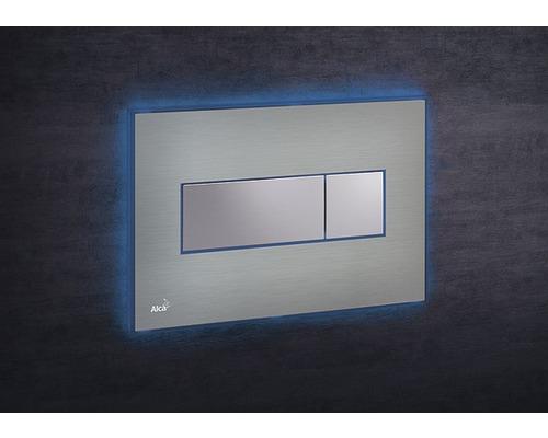 Betätigungsplatte Alca Plast Komfort mit blauer Beleuchtung edelstahl/chrom