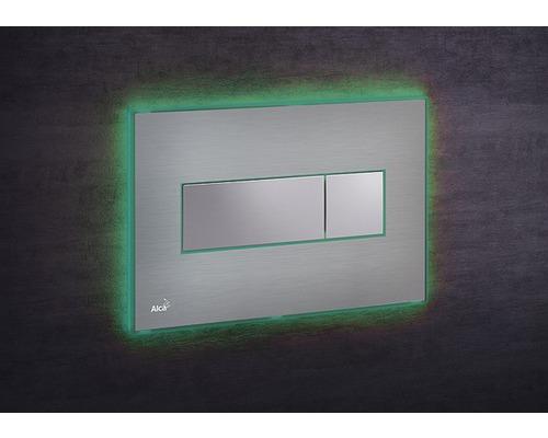 Betätigungsplatte Alca Plast Komfort mit grüner Beleuchtung edelstahl/chrom