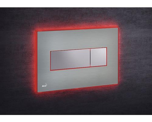 Betätigungsplatte Alca Plast Komfort mit roter Beleuchtung edelstahl/chrom