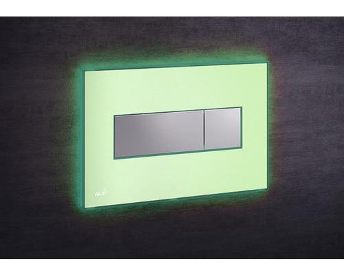 Betätigungsplatte Alca Plast Komfort mit grüner Beleuchtung grün/chrom