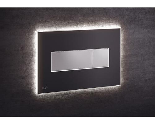Betätigungsplatte Alca Plast Komfort M1475-AEZ110 mit weißer Beleuchtung schwarz/chrom