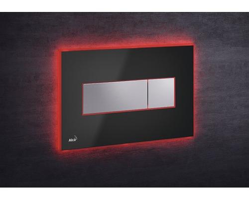 Betätigungsplatte Alca Plast Komfort M1474-AEZ113mit roter Beleuchtung schwarz/chrom