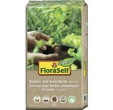 Kräuter- & Anzuchterde ohne Torf FloraSelf Nature, 35 L