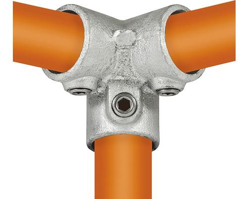 Dreiweg-Eckstück 90° Rohrverbinder für Gerüstholz-Stahlrohr Ø 33 mm