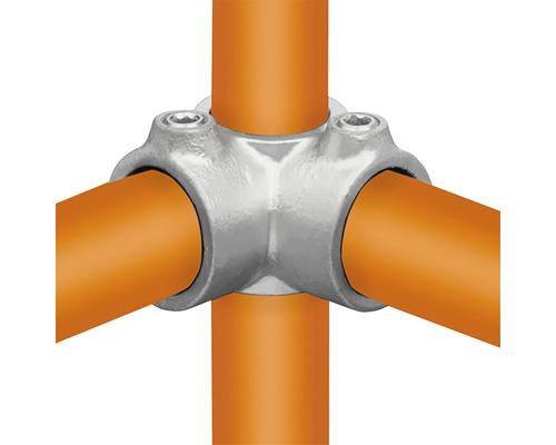 Eckstück Rohrverbinder für Gerüstholz-Stahlrohr durchgehend Ø 33 mm