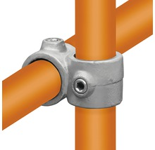 Kreuzstück Rohrverbinder 90 ° vorgesetzt für Gerüstholz-Stahlrohr Ø 33 mm