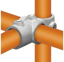 Kreuz-T-Stück kombiniert 90° für Gerüstholz-Stahlrohr Ø 33 mm