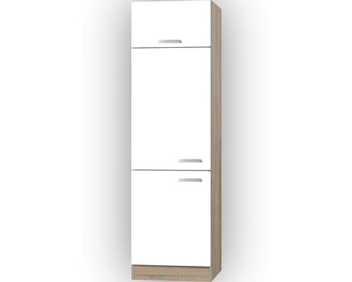 Kühlumbauschrank Optifit Zamor weiß 60x206,8x57,1 cm