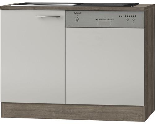 Spülenunterschrank Optifit Arta beige seidenglanz 110x84,8x60 cm