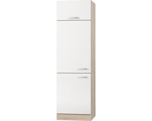 Kühlumbauschrank Optifit Dakar weiß seidenglanz 60x206,8x57,1 cm