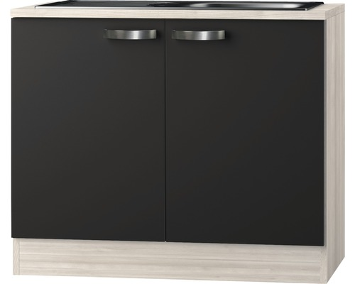 Spülenunterschrank Optifit Faro anthrazit 100x84,8x60 cm