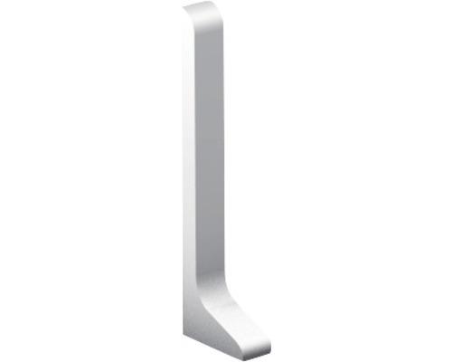 Endstück links für Sockelleiste, Aluminium silber 40x11 mm