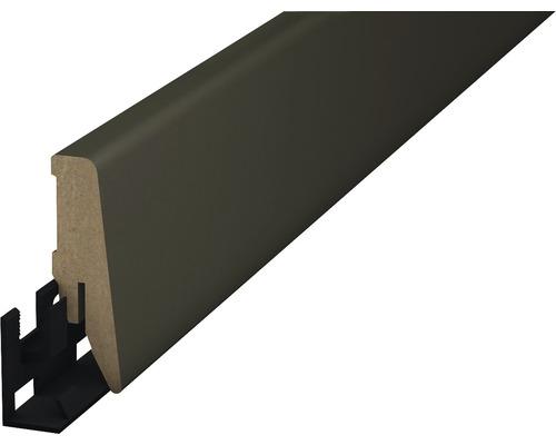 Sockelleiste MDF kieselgrau 18x58x2500 mm