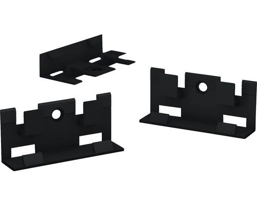 Clips Kunststoff schwarz für Sockelleiste