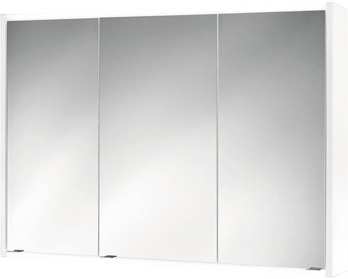LED-Spiegelschrank Jokey Batu 100x71x16 cm 3-türig weiß