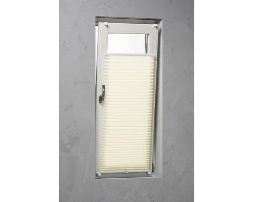 Soluna Plissee-Faltstore mit Seitenverspannung beige 60x130 cm