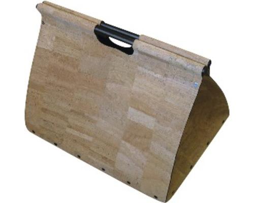 Holztragetasche Lienbacher aus Naturkork auf Rollen