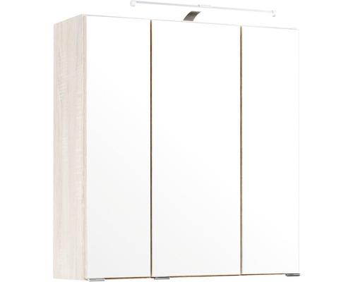 Spiegelschrank Held Möbel 003.1.0005 60x66 cm 3-türig Holzoptik