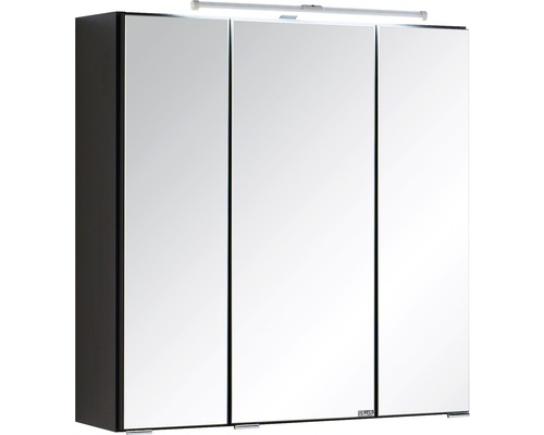 Spiegelschrank Held Möbel 003.1.0042 60x66 cm 3-türig dunkelgrau