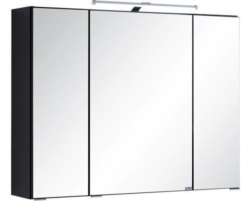 Spiegelschrank Held Möbel 004.1.0042 80x66 cm 3-türig dunkelgrau