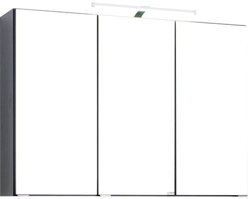 Spiegelschrank Held Möbel 008.1.0042 90x66 cm 3-türig dunkelgrau