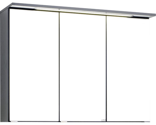 Spiegelschrank Held Möbel 012.1.0042 90x66 cm 3-türig dunkelgrau