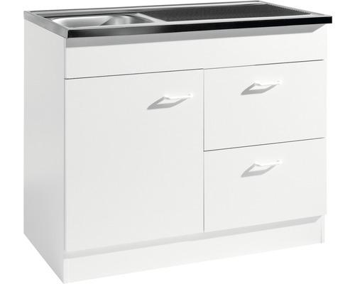 Spülenschrank Held Möbel 100x50 cm weiß