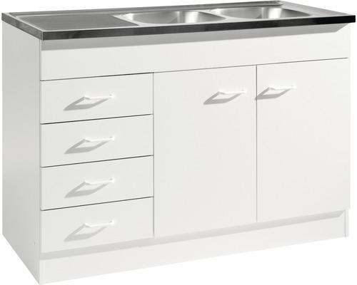 Spülenunterschrank Held Möbel 120x60 weiß