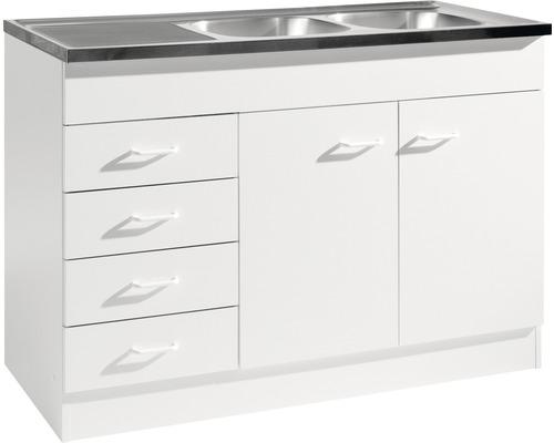 Spülenunterschrank Held Möbel 120x50 cm weiß