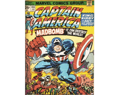 Leinwandbild Marvel Captain Amercia 50x70 cm
